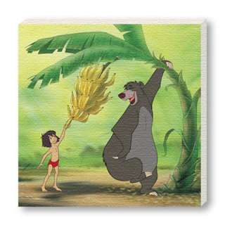 Jungle Book Baloo and Mowgli Disney Animation Movie Canvas 04P0