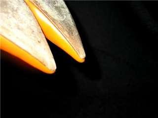 JIMMY CHOO ORANGE LEATHER HEELS PUMPS SIZE 36.5 / 6.5 M http://www