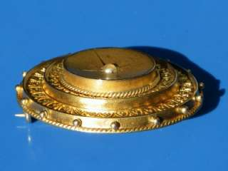 ANTIQUE VICTORIAN 1890 GOLD PEARL TARGET PICTURE LOCKET 9CT BROOCH 7