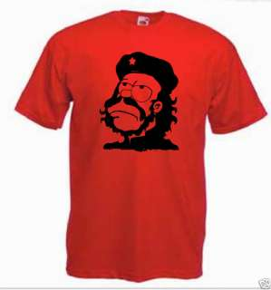 Homer Simpson Simpsons Che Guevara T shirt *ALL SIZES*