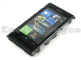 Crystal Bling Back Case Cover for Nokia Lumia 800 Zebra
