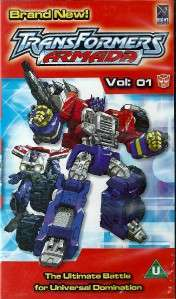 TRANSFORMERS ARMADA   VOL 1   VHS VIDEO