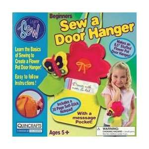 Colorbok Flower Pot Door Hanger Learn To Sew Kit 8.5