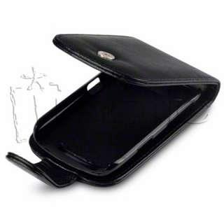 Funda Cuero Piel NEGRA Blackberry Curve 9360 y 9350 color NEGRO