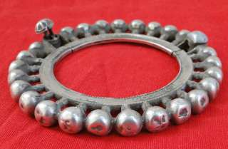 ANTIQUE TRIBAL OLD SILVER JEWELLERY BRACELET BANGLE CUF