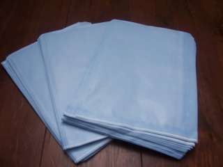 50 Quality Paper Gift Bags Light Blue 10 x 14
