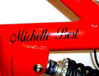 PERSONALISED BIKE FRAME NAME DECAL,STICKER,BMX HELMET