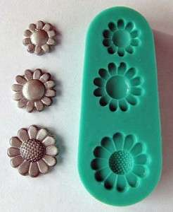 SILICONE Small DAISIES MOULD for Sugarcraft, PMC, FIMO