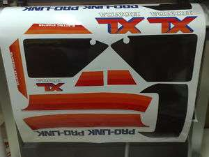 KIT ADESIVI DECAL HONDA XL 600 LM MOTORE ROSSO