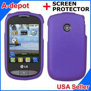 800G Net10 Purple Rubberized Hard Case Cover +Screen Protector