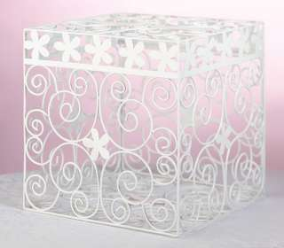 Wedding Card Box White Metal Card Box Card Holder