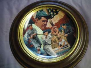 FRANKLIN MINT ROYAL DOULTON BASEBALL PLATEBABE RUTH
