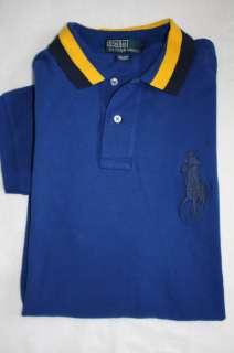 Nwt Polo RALPH LAUREN Mens Big Pony Blue Shirt L XL 2XL