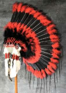 Native American Black Hawk War Bonnet Headdress