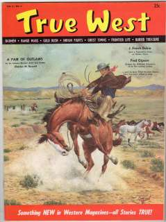 TRUE WEST MAGAZINE, Vol. 1, No. 1   Charles Russell Article, Very Nice