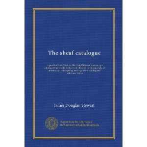 guide to cataloguers reference books James Douglas. Stewart Books