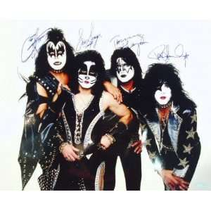 Gene Simmons and Paul Stanley, Eric Singer and Tommy Thayer Signed