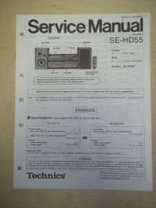 Technics Service/Repair Manual~SE HD55 Power Amplifier