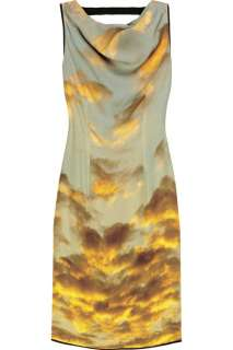 Christopher Kane Cloud print silk dress   65% Off Now at THE OUTNET