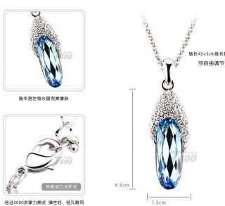 Fashion 18K GP Swarovski crystal necklace pendant options 3colour U