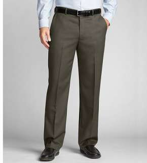 Eddie Bauer Men Pants Dress Classic Fit Wool Gabardine Trousers
