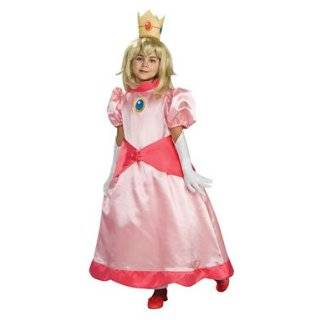 Super Mario Princess Peach Child Costume Size Medium
