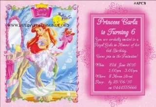Ariel Little Mermaid INVITATION/INVITE  24 designs