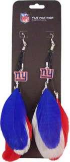 New York Giants Fan Feather Earrings