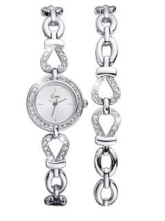 Limit Sterling Silver and Crystal Watch and Bracelet Set Very.co.uk