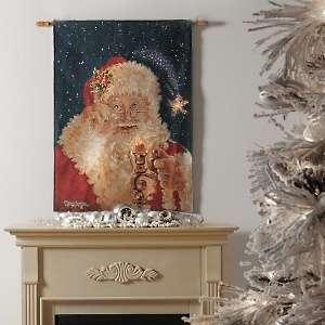 Winter Lane Fiber Optic Merry Christmas Wall Hanging