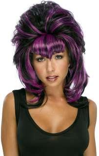 Cruelzella Purple and Black Wig  Halloween Sorceress Wig