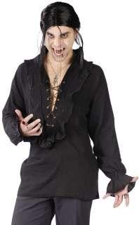 Vampire Shirt Black  Gothic Vampire Costume Black Shirt