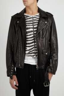 Black Waxed Leather Biker Jacket by 3.1 Phillip Lim   Black   Buy