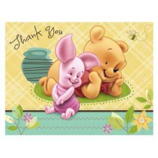 baby pooh and friends thank you cards 8 count regular $ 5 99 price $