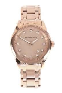 Michael Kors Watches  Rose Gold Round Case Glitz Index Watch by