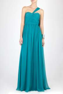 Notte by Marchesa  Full Length Draped Bodice Dress by Notte by