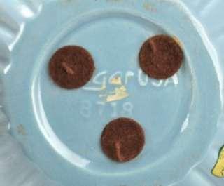 VTG Haeger Blue Ribbed Floral Planter #8718 Flower Pot