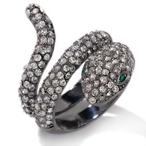 Paula Abdul FYG Cold Hearted Crystal Wrap Snake Ring