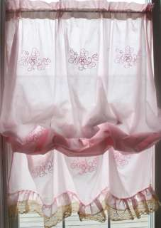 Shabby country ruffle chic embroidery lace balloon floral cafe kitchen