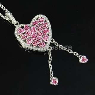 4GB Pink Heart Necklace USB 2.0 Flash Memory Pen Drive