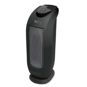 Oscillating Ceramic Mini Tower Heater, 1500W, Black
