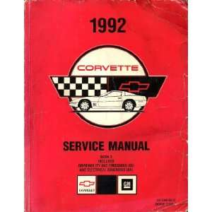1992 Chevrolet Corvette Factory Service Manual (Volume 2