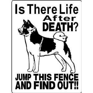 AKITA DOG SIGN 9x12 ALUMINUM