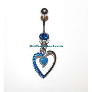 Flaunting Heart Belly Rings