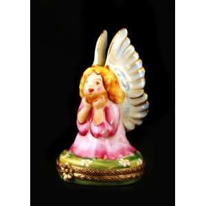 Angel w/ Gold Wings Authentic French Limoges Box