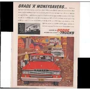 Dodge Trucks Farm Home Grade A Moneysavers 1960 Vintage Antique