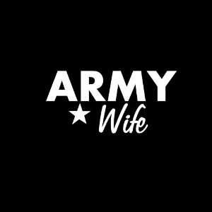 Army Wife Car Window Decal Sticker White 6
