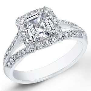 2.30 Ct. Asscher Cut Diamond Engagement Ring G, VS2 (EGL
