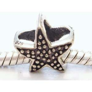 Authentic 925 sterling silver Starfish charm fits pandora