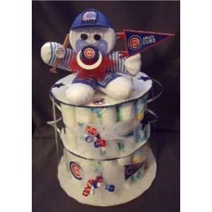 Baseball Diaper Cake Baby Shower Gift Centerpiece